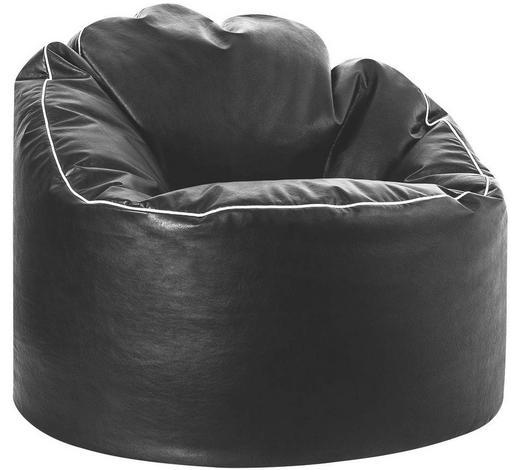 SITZSACK in Textil - Schwarz/Weiß, Design, Textil (80/80/75cm)