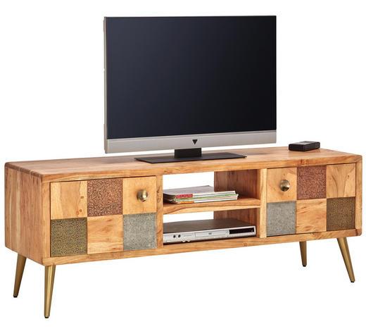 LOWBOARD in Holz, Metall   - Goldfarben/Braun, Trend, Holz/Metall (148/55/45cm) - Landscape
