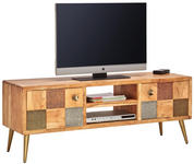 LOWBOARD 148/55/45 cm - Goldfarben/Naturfarben, Trend, Holz/Metall (148/55/45cm) - Landscape