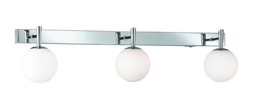 STRAHLER - Chromfarben/Opal, LIFESTYLE, Glas/Metall (65/16/13,5cm)