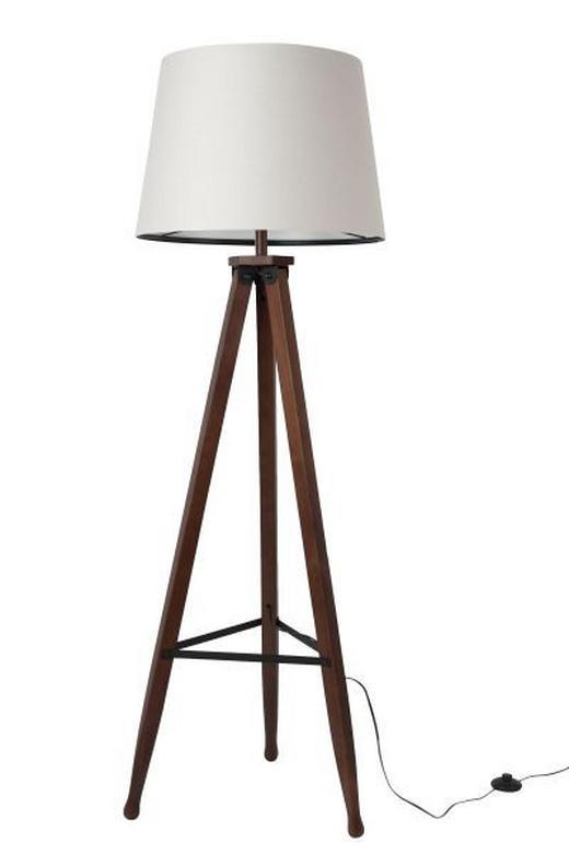 STEHLEUCHTE - Beige/Nussbaumfarben, KONVENTIONELL, Holz/Textil (50/50/154cm)