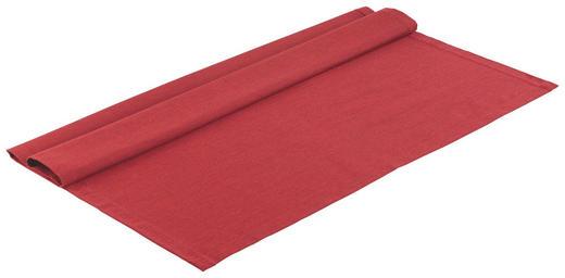 TISCHDECKE Textil Leinwand, Struktur Rot 80/80 cm - Rot, Textil (80/80cm) - NOVEL