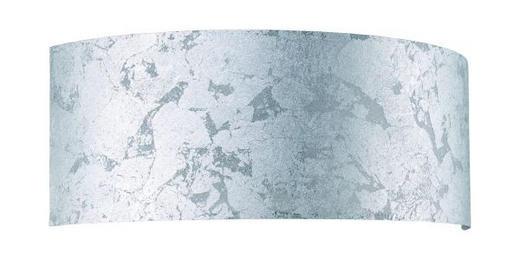 LEUCHTENSCHIRM  Silberfarben, Transparent  Kunststoff, Papier - Transparent/Silberfarben, Basics, Papier/Kunststoff (13/34/12cm)