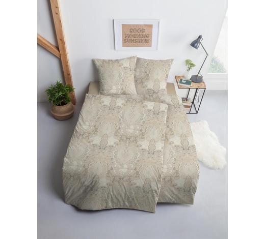 BETTWÄSCHE Makosatin Hellbraun - Hellbraun, Design, Textil (155/220cm) - Estella