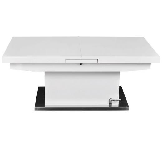 COUCHTISCH rechteckig Weiß  - Weiß, LIFESTYLE, Glas/Metall (125(150)/70/50(78)cm) - Carryhome