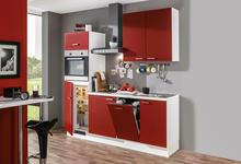 KÜCHENBLOCK - Rot/Weiß, Design, Holzwerkstoff (210cm) - Xora