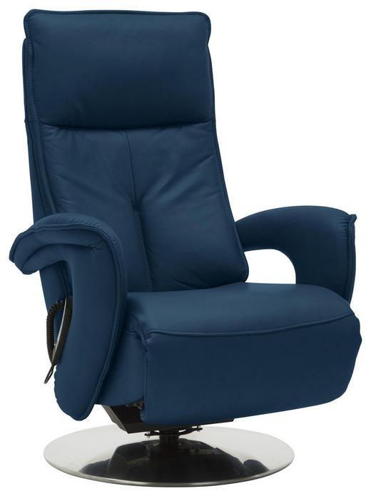 RELAXSESSEL Chenille - Blau/Edelstahlfarben, Design, Textil/Metall (77/110/87cm) - Valdera