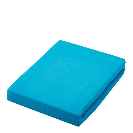 SPANNBETTTUCH Jersey Türkis bügelfrei, für Wasserbetten geeignet - Türkis, Basics, Textil (150/200cm) - Esposa
