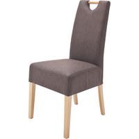 STOL, tekstil rjava - rjava, Design, tekstil/les (47/99/59cm) - Carryhome