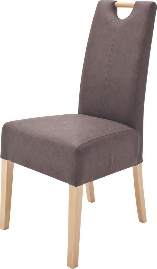 STUHL Lederlook Braun - Braun, Design, Holz/Textil (47/99/59cm) - Carryhome