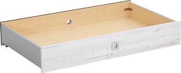 BETTKASTEN - Weiß, Design, Holzwerkstoff/Kunststoff (100/16/60cm) - Carryhome