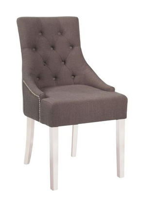 STOL - vit/grå, Lifestyle, trä/textil (52/95/64,5cm) - Rowico