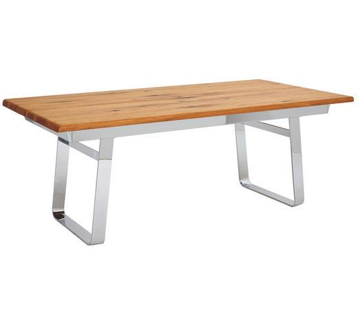 ESSTISCH in Holz, Metall - Eichefarben, Design, Holz/Metall (200/75/100cm) - Team 7