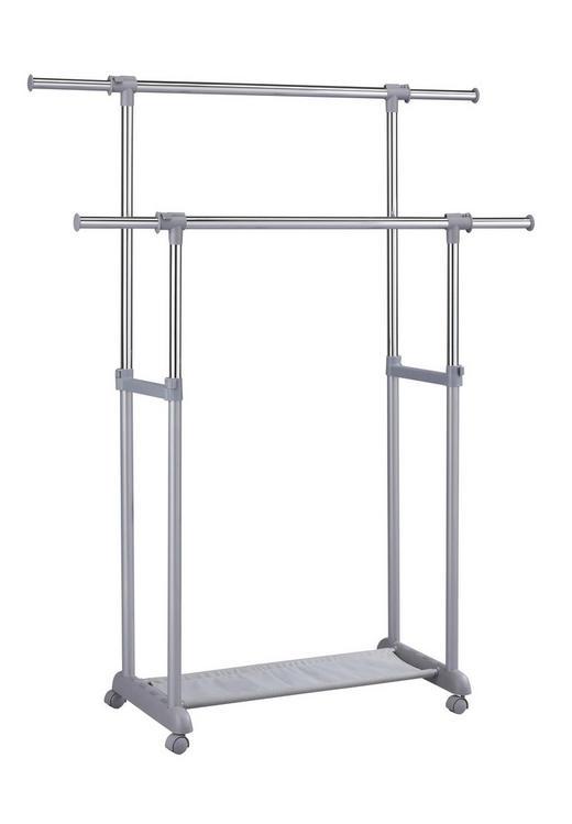 KLEIDERWAGEN Alufarben - Alufarben, Design, Kunststoff/Metall (86-142/94-167/44cm) - Carryhome