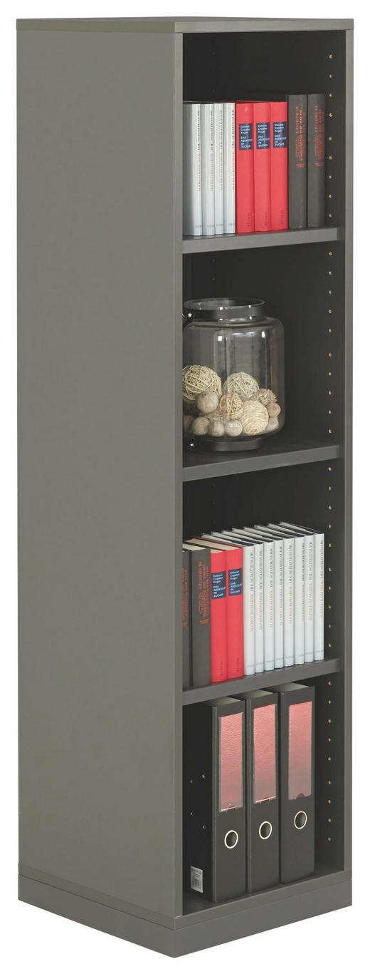REGAL Anthrazit - Anthrazit, Design, Holzwerkstoff (40/148,5/40cm) - MODERANO