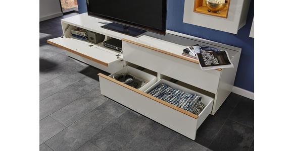 WOHNWAND Eichefarben, Weiß - Eichefarben/Weiß, Design, Holz/Holzwerkstoff (291/195/56,5cm) - Dieter Knoll