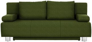 SCHLAFSOFA in Textil Dunkelgrün - Chromfarben/Dunkelgrün, Design, Textil/Metall (197/88/89cm) - Xora