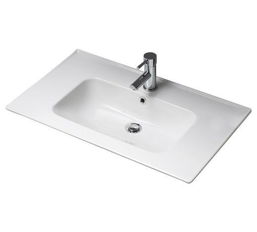 WASCHBECKEN 80/2/45 cm - Weiß, KONVENTIONELL, Keramik (80/2/45cm) - Xora