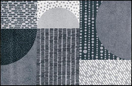 FUßMATTE 115/175 cm Graphik Grau, Hellgrau - Hellgrau/Grau, Basics, Kunststoff/Textil (115/175cm) - Esposa