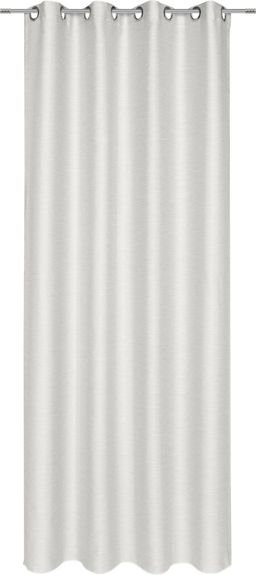 ÖSENSCHAL  blickdicht   135/245 cm - Silberfarben, Basics, Textil (135/245cm) - Esposa