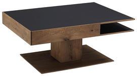 COUCHTISCH in Holz, Glas 105/75/46 cm   - Eichefarben/Anthrazit, Design, Glas/Holz (105/75/46cm) - Valnatura