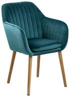 ARMLEHNSTUHL Smaragdgrün - Smaragdgrün, Design, Holz/Textil (57/83/59cm) - Ambia Home