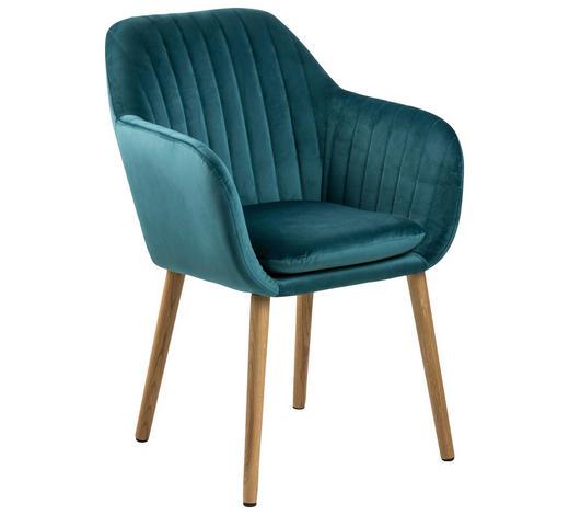 ARMLEHNSTUHL in Smaragdgrün - Smaragdgrün, Design, Holz/Textil (57/83/59cm) - Carryhome