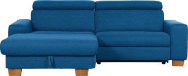 WOHNLANDSCHAFT in Textil Blau  - Blau/Eichefarben, Design, Textil (178/262cm) - Hom`in