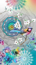 STRANDTUCH - Multicolor/Grau, Textil (100/180cm)