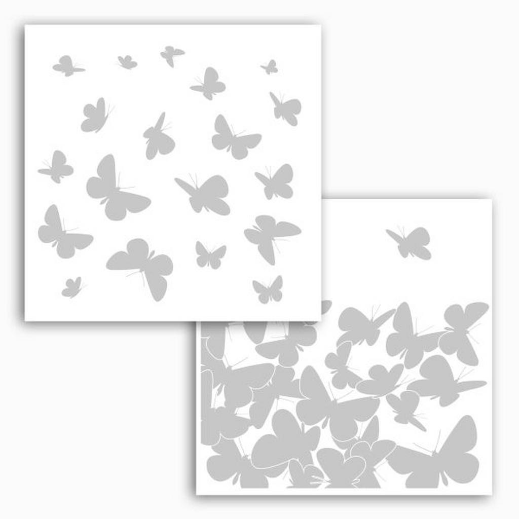 Komar Fensterbild Schmetterlinge
