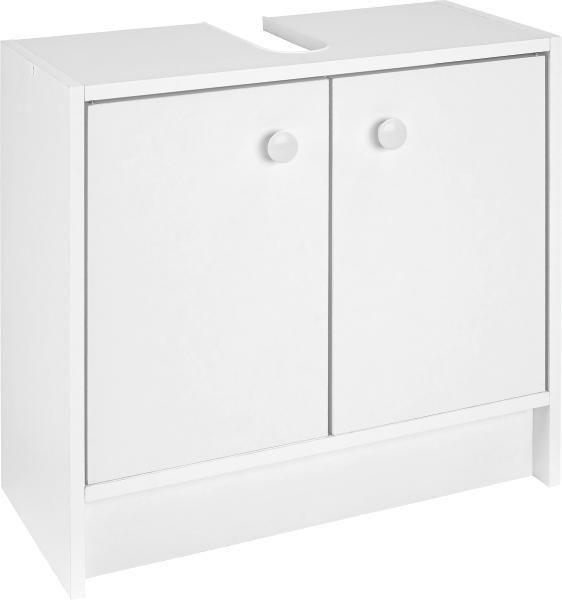 WASCHBECKENUNTERSCHRANK Weiß - Weiß, KONVENTIONELL, Holz/Holzwerkstoff (60/54/28cm) - CARRYHOME