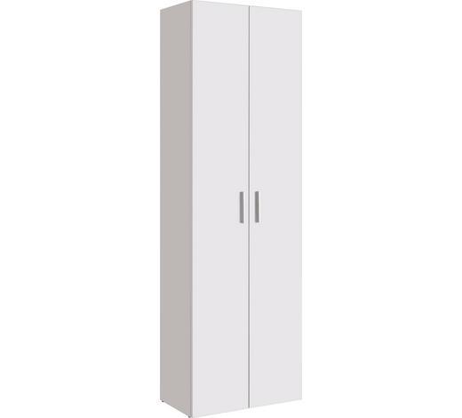 MEHRZWECKSCHRANK in Weiß - Alufarben/Schwarz, Design, Holzwerkstoff/Kunststoff (60/192/33,6cm) - Carryhome