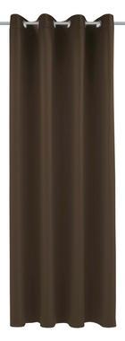 ZAVJESA S RINGOVIMA - tamno smeđa, Konvencionalno, tekstil (140/245cm) - ESPOSA