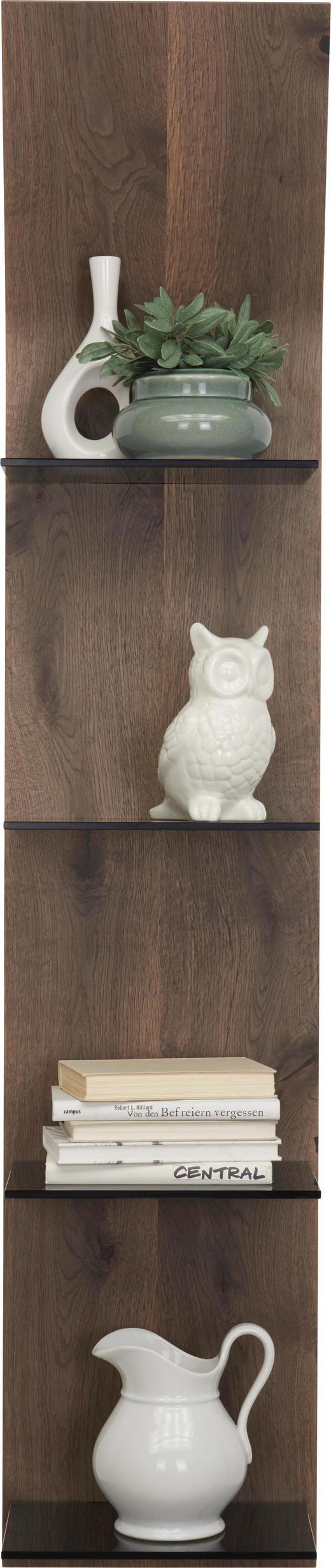 WANDPANEEL Eiche furniert gebeizt Eichefarben - Eichefarben, Design, Glas/Holz (32,5/158,4/23,5cm) - Moderano