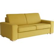 POHOVKA, žlutá, textilie, - přírodní barvy/žlutá, Konvenční, dřevo/textilie (205/88/89cm) - Venda