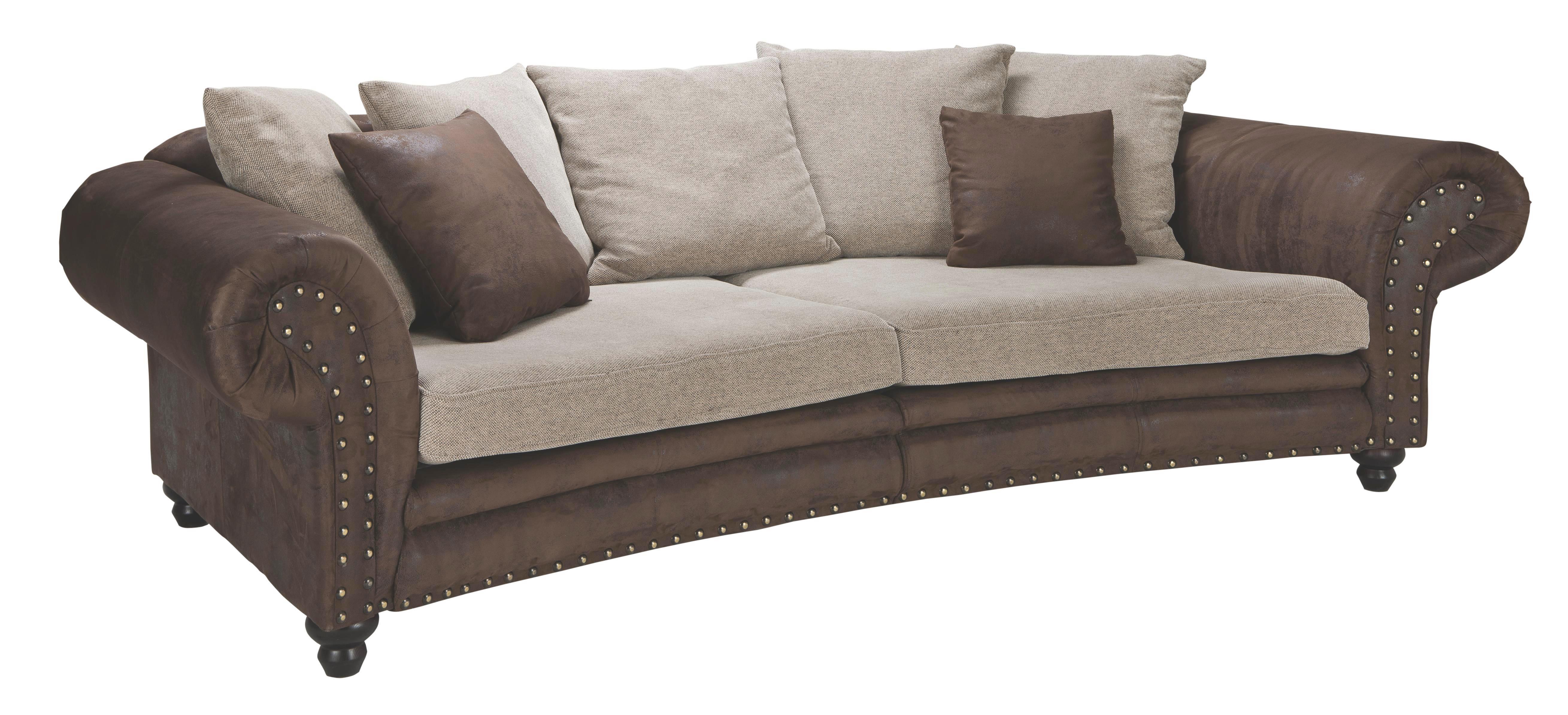 SOFA in Beige, Braun Textil - Beige/Braun, LIFESTYLE, Holz/Textil (276/81/140cm) - LANDSCAPE