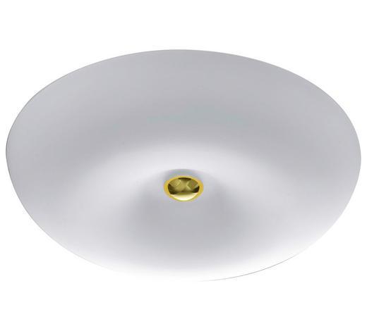 LED-DECKENLEUCHTE - Design, Glas/Metall (43/10cm) - Bankamp
