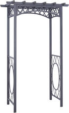 ROSENBOGEN Metall Anthrazit - Anthrazit, Design, Metall (140/220/75cm) - AMBIA GARDEN