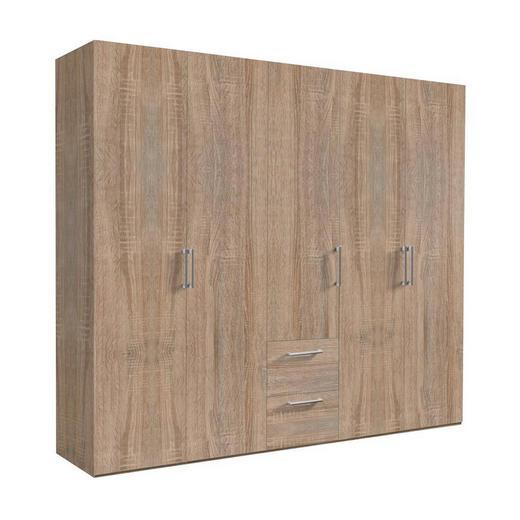 DREHTÜRENSCHRANK 5  -türig Sonoma Eiche - Alufarben/Sonoma Eiche, KONVENTIONELL, Holzwerkstoff/Kunststoff (250/216/58cm) - Hom`in