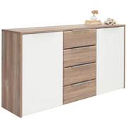 KOMODA SIDEBOARD - barvy borovice/bílá, Design, kov/dřevěný materiál (169/93/42cm) - Carryhome