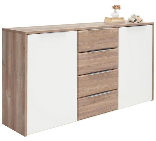 SIDEBOARD 169/93/42 cm - Alufarben/Weiß, Design, Holzwerkstoff/Metall (169/93/42cm) - Carryhome