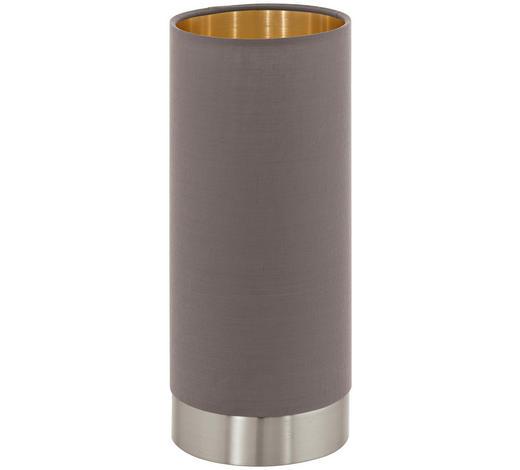 TISCHLEUCHTE - Hellbraun/Goldfarben, LIFESTYLE, Textil/Metall (12/22,5cm) - Novel