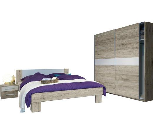 SPAVAĆA SOBA - bijela/boje hrasta, Design, drvni materijal (180/200cm) - Boxxx