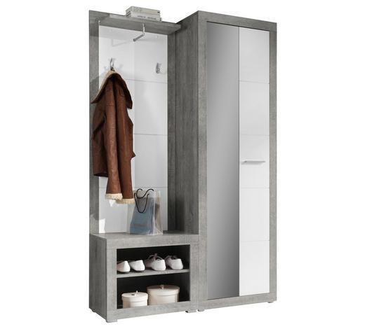 PREDSOBA siva, bela - siva/bela, Design, leseni material (120/194/37cm) - Boxxx