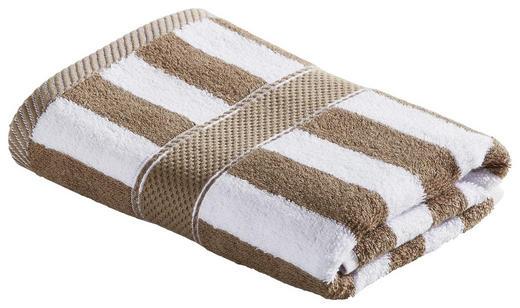 HANDTUCH 50/100 cm - Taupe/Weiß, KONVENTIONELL, Textil (50/100cm) - Esposa