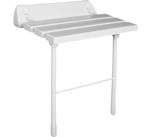 DUSCHHOCKER Metall, Kunststoff - Weiß, Basics, Kunststoff/Metall (51/46/23cm)