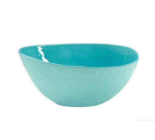 SCHALE Keramik Feinsteinzeug - Türkis, Keramik (25/12/18cm) - ASA