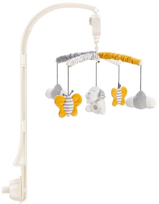 MOBILE - Weiß/Grau, Basics, Kunststoff/Textil (17cm) - My Baby Lou