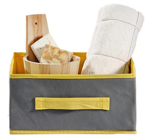 BOX Textil Grau  - Grau, Textil (28/28/13cm)