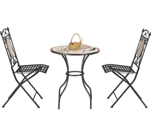 SADA NA BALKON, vícebarevná, černá - černá/vícebarevná, Lifestyle, kov/keramika (60/36/72/91/60/35cm) - Ambia Garden